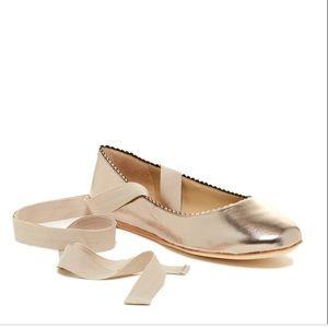 Via Spiga Brianna scalloped ballet ankle wrap